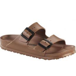 Birkenstock Metallic Copper Arizona EVA Womens Slide On Sandals 1001500