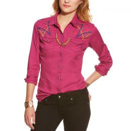10016051 ARIANA Fitted Long Sleeve Snap Women's Ariat Shirt