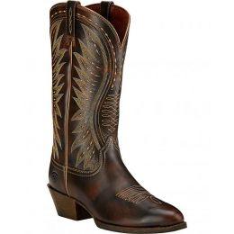 10017333 AMMORETTE Brown Round Toe Women's Ariat Western Boots