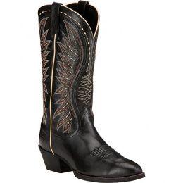 10017334 AMMORETTE Black Round Toe Women's Ariat Western Boots