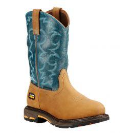 10018577 Workhog Aged Bark Waterproof Western Ariat Womens Work Boots