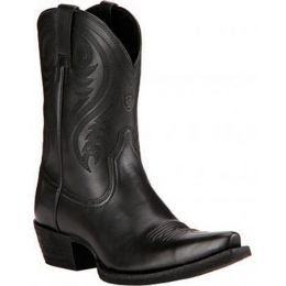 Willow Black Leather Snip Toe Ariat Womens Western Cowboy Boots