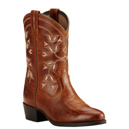 Ariat Desert Holly  Brown/Red Leather Kids Western 10018647