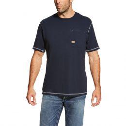 Ariat Navy Rebar Workman Men's T-Shirt 10019132