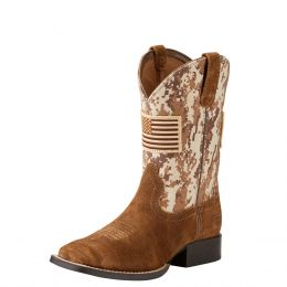 Ariat Antique Mocha Sand Youth Patriot Western Boot 10019913
