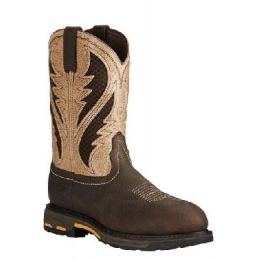 Ariat Bruin Brown Mens WorkHog VentTEK Composite Toe Work Boot 10020091