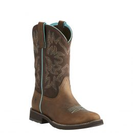 Ariat Distressed Brown Delilah Womens Western Boots 10021457