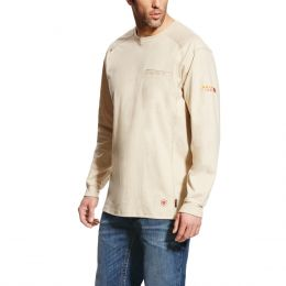Ariat Sand Heather FR Air Crew T-Shirt 10022328