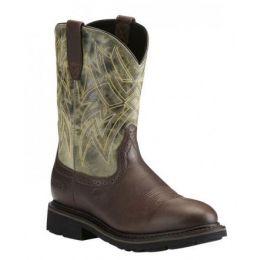 Ariat Everett Dark Chocolate Sage Western Work Mens Boot 10022550