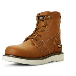 Ariat Tan Mens Rebar Wedge 6 inch Golden Grizzly Work Boot 10023064