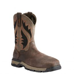 Ariat Chocolate Brown Rebar Flex Composite Toe Western Work Boots 10023076