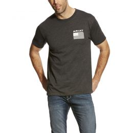 Ariat Charcoal Heather Grey Freedom T-Shirt 10025209