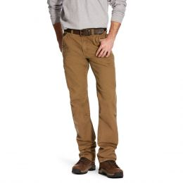 Ariat Field Khaki Rebar M4 Low Rise DuraStretch Washed Twill Dungaree Boot Cut Pant 10025972