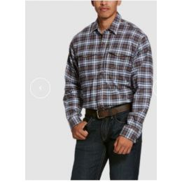 Ariat Wildcat Plaid Rebar Flannel Durastretch Long Sleeve Work Shirt 10027820