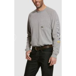 Ariat Grey Rebar Cottonstrong Graphic Long Sleeve T-Shirt 10027901