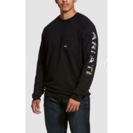Ariat Black Rebar Cottonstrong Graphic Long Sleeve T-Shirt 10027903