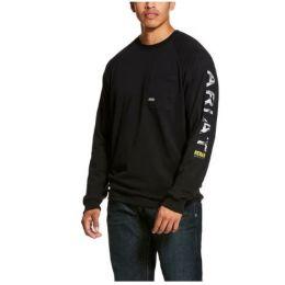 Ariat Black Rebar Cottonstrong Graphic Long Sleeve T-Shirt 10027903