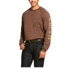 Ariat Moss Rebar Cottonstrong Graphic Long Sleeve T-Shirt 10027904
