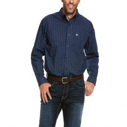 Ariat Dress Blue Trewin Classic Fit Mens Long Sleeve Shirt 10028024