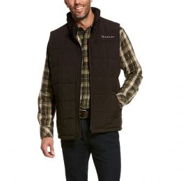 Ariat Men's Espresso Heather Crius Insulated Vest 10028380