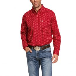 Ariat Cranberry Crimson Danton Stretch Classic Fit Mens Shirt 10028824