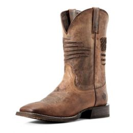Ariat Weathered Tan Circuit Patriot Mens Western Boots 10029699
