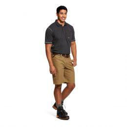 Ariat Field Khaki Rebar Relaxed Made Tough Durastretch  Men's Short 10030265