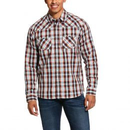 Ariat Multi Jefferson Retro Fit Long Sleeve Mens Shirt 10030704