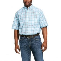Ariat September Sky Blue Pro Series Larkspur Classic Fit Mens Short Sleeve Shirt 10030721