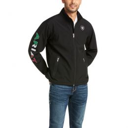 Ariat Black New Team Softshell Mexico Water Resistant Jacket 10031424