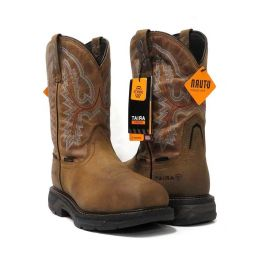 Ariat Brown Workhog Waterproof H20 XT Carbon Toe Mens Work Boots 10031483