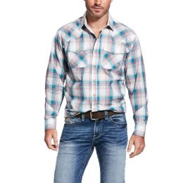 Ariat Adrift Beige Quillbrook Retro Fit Mens Shirt 10031850