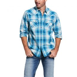 Ariat Dark Denim Quadman Retro Fit Mens Shirt 10031851