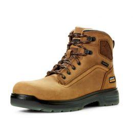 Ariat Aged Bark Tan Turbo 6 Inch Waterproof Mens Work Boots 10032608