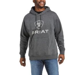 Ariat Men's Rough Grain Hoodie Charcoal Grey 10033135