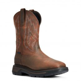Ariat Big Rig H20 Distressed Brown Mens Western Boots 10033991