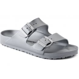 Birkenstock Metallic Silver Arizona Essentials Womens Slide On Sandals 1003491