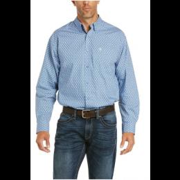 ARIAT BLUE FARLE CLASSIC LONG SLEEVE SNAP MEN'S SHIRT 10035341