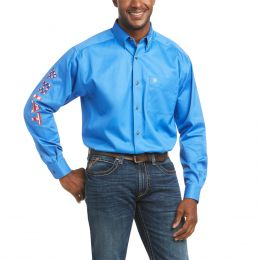 Ariat Sea Scape Team Logo Long Sleeve Twill Shirt 10036179