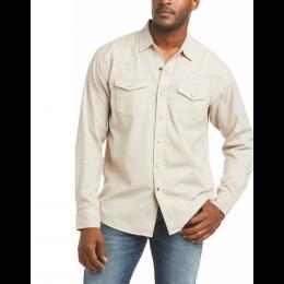 Ariat Beige Ace Retro Men's Longsleeve Shirt 10036233