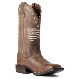 Ariat Weathered Tan Circuit Patriot Womens Western Boots 10038388