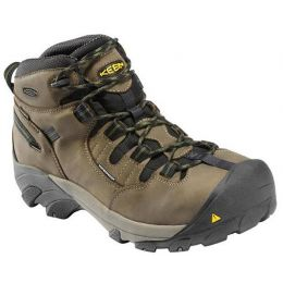 1007003 DETROIT MID Waterproof Leather Steel Toe Keen Mens Work Boots