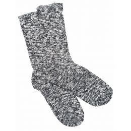 Birkenstock Black/Grey Cotton Slub Mens Socks 1008031