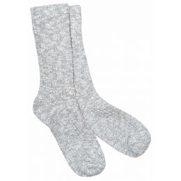 Birkenstock Gray/White Cotton Slub Mens Socks 1008032