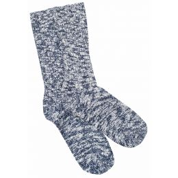 Birkenstock Blue/White Cotton Slub Mens Socks 1008034