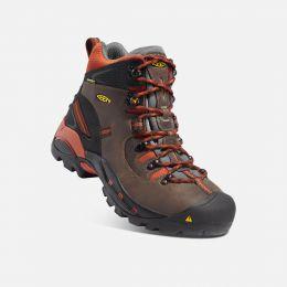 Keen Pittsburgh 6inch Waterproof Soft Toe Cascade Brown Mens Work Boot 1009709