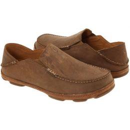 Olukai Moloa Slip On Ray Toffee Leather  Mens Casual 10128-2733