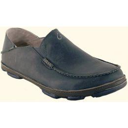Olukai Moloa Slip On Black Leather Mens Casual 10128-7A7C