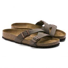 Birkenstocck Mocha Tao Nubuck Leather Womens Sandals N1013967