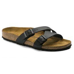 Birkenstock Black Yao Birko-Flor Womens Sandals N1014182